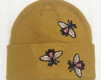 Embroidered Beanie - Z' eyes, mouth is not