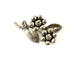 Vintage Blossom Design Pin/Brooch 925 Sterling Silver BB 1030