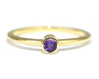 Amethyst gold ring Etsy