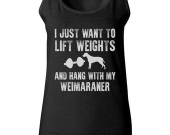Weimaraner Dog Tank Top - Weight Lifting Womens Tshirt - Mens Lifting Weights Shirt - Gym Wear - Workout Outfit - Weimaraner T Shirt