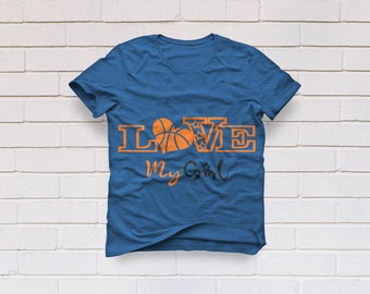 Basketball svg, Love my girl svg, Basketball Heart svg, mom svg, Basketball mom svg, Basketball shirt, Cricut, Cameo, Svg, DXF, Png, Pdf Eps