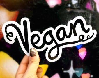Vegan Car Sticker - Vinyl Sticker - Black - Car Decal