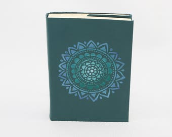 Green notebook leather with mandala