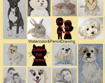 Custom pet portraits, Pet portraits custom, Custom dog portraits, Custom portrait art, Pet lover gift, Memorial pet portrait, Pet portraits