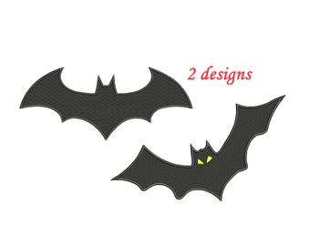 Batman Embroidery Design - 2 designs, 3,4,5,6 inch size each instant download