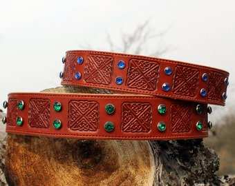 Leather Designer Dog Collar