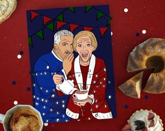 Great British Bake Off Christmas Card, Mary Berry Xmas card, Pop culture card