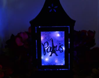 Paris LED Metal Lantern