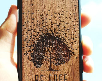 Be free - Wood Case