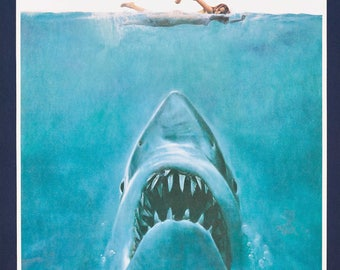 Jaws Cult Horror Film Movie Poster Print Steven Spielberg Retro Vintage A1 A2 A3 A4