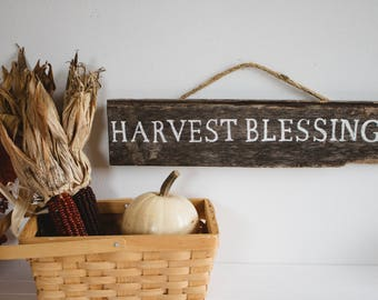 Harvest Blessings | Rustic Signs | Rustic Decor | Farmhouse Signs | Farmhouse Decor | Rustic Fall | Fall Decor | Autumn Decor