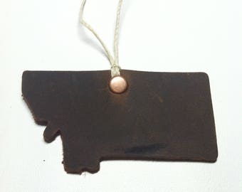 Montana leather ornament