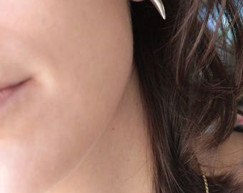 Silver platted Canine earrings