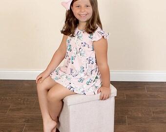 girls ruffle dress- girls summer dress- girls clothing- girls summer outfit-ruffle dress-girls boutique dress-boutique dress Pink Carousel