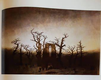 Abtei im Eichwald By Friedrich, Vintage Art Print