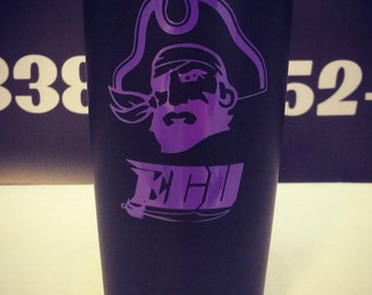 Powder Coated YETI 20oz ECU East Carolina University Pirates YEti **Free Shipping!!**