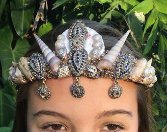 Bronze Bindi Shell Crown