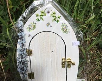 Bee hand painted Fairy Door