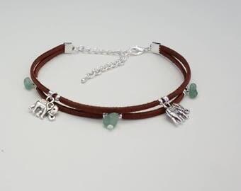 Elephant Boho Anklet - Beach - Healing Crystals