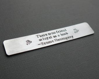 Custom bookmark - hand-stamped - quote bookmark - gift for readers - personalized bookmark