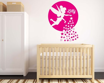 Personalised Fairy - Wall Decal Wall Sticker - Home - Girls Room - Disney - Kids Room