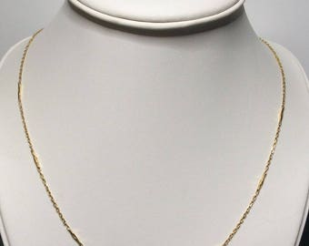 "Estate 22K Yellow Gold Chain Necklace 6.4 Grams 23.5"" Inches Long"