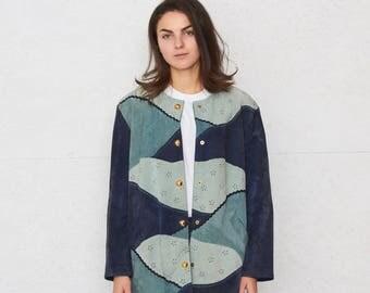 Vintage Blue DINO'Z Suede Jacket