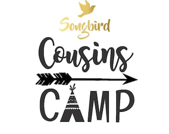 Cousins Camp IRON ON Transfer Decal Heat Transfer Vinyl Cousin Shirt Camping Family Summer Fun Decals Transfers
