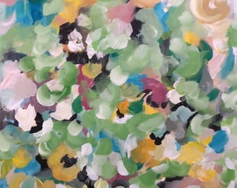 Floral abstract painting