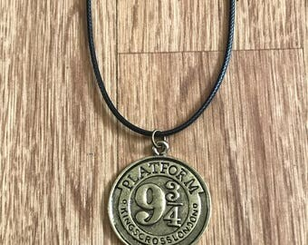 Harry Potter platform 9 3/4 necklace, harry potter necklace, harry potter gifts