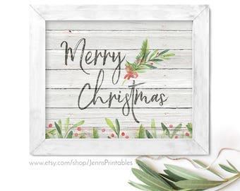 Merry Christmas Printable; Merry Christmas Printable Wall Art; Merry Christmas Decor; Merry Christmas printable sign; Holiday Printable Art