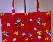 Minnie Mouse Tote Bag fully lined in black