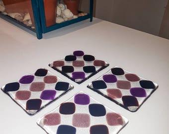 Fused Glass Coasters - Handmade