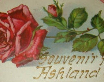 Vintage Patriotic Rose Postcard