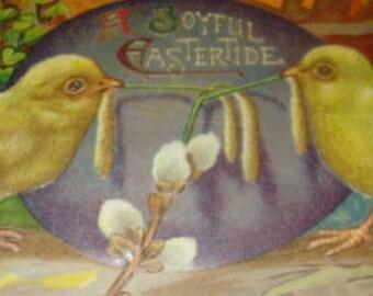 Vintage Easter Postcard (Chicks)