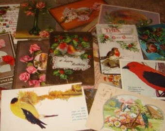 30 Vintage Postcards (Craft Lot #7)