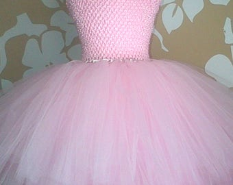 Baby Pink Tutu Dress, Pink Party Dress, Pink Dress, Tulle Tutu Dress, Pink Tutu Party Dress, Tutu Dress, Baby Pink Party Dress