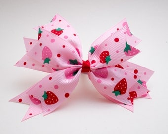 Hairclip spike strawberry pink