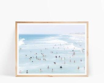 Beach Surf Photo, Beach Printable Art, Ocean Print, Ocean Digital Download, Coastal Print, Sea Print, Beach Wall Art, Ocean Wall Art Poster