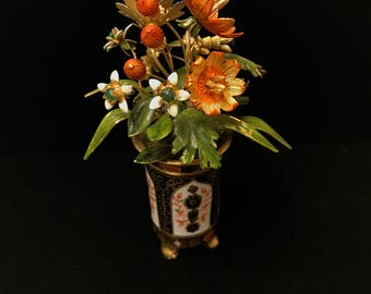 Enamel Floral Miniture