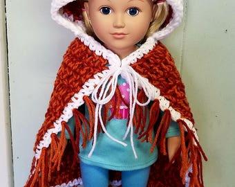 Fox doll blanket, 18 inch doll blanket, doll blanket