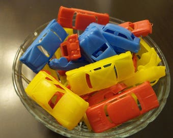 Vintage Lot of 31 Plastic Toy Cars