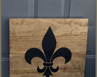Fleur De Lis - Wooden Sign