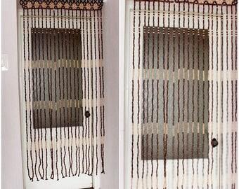 Soviet Vintage Wood Curtain string Beads Door Curtains. Beaded Door Curtain Wood Bead Door & Door beads | Etsy pezcame.com