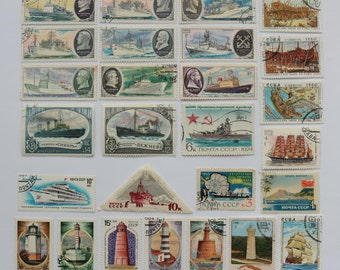 Set of 27 pcs Postal, Postage Stamp, Collecting, Philately # 7