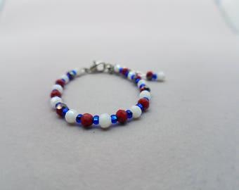 Red, White, & Blue Baby Bracelet