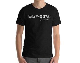Scripture Faith Shirt - Bible Verse Shirt for Men or Women Unisex - Christian Shirt for Women Men - Jesus Christ Savior Christianity