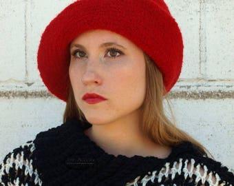 Crochet Pattern for Detroit Felted Cloche Crochet Hat pattern