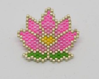 Pink LOTUS brooch - Tones