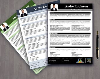 Resume Template Instant Download, Teacher Resume, 1 Page Resume, 2 Page Resume, Cover Letter, Infographic Resume, Free Resume Template